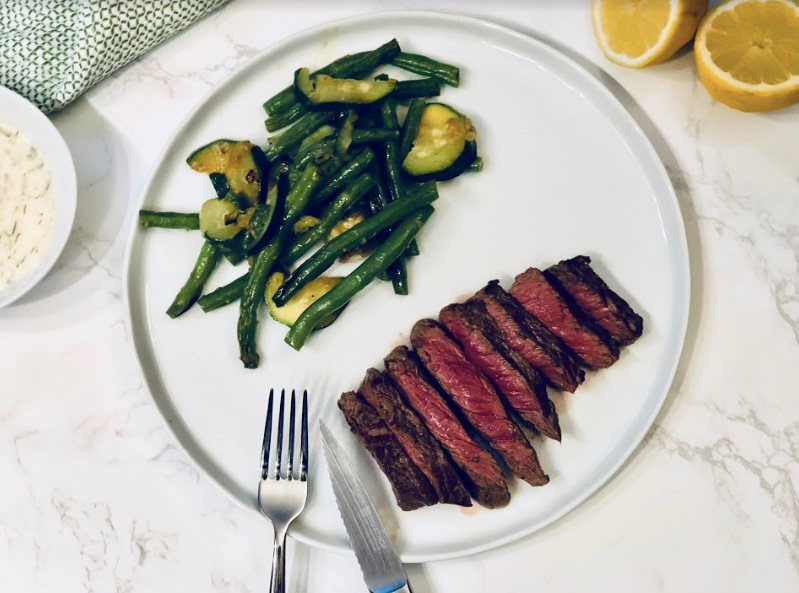 seared steaks by Marley spoon