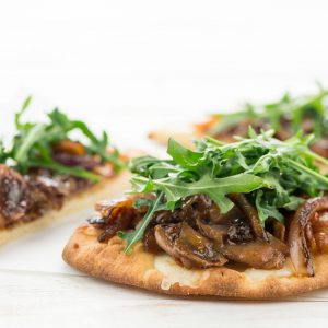 Prosciutto and Fig Mini Flatbreads with Mozzarella