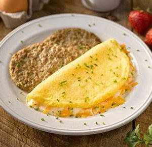 Cheese Omelet with Turkey Sausage