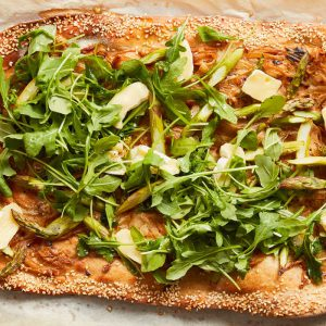 Asparagus and Brie Pizza