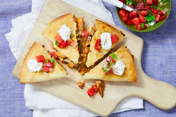 Chicken Pineapple Quesadillas with Southwest Spice hello fresh