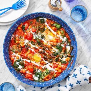One-Pan Chickpea and Curry Shakshuka
